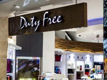 Duty free shops inside the terminal at Bangkok's main international airport. Bigstock ID: 167460914